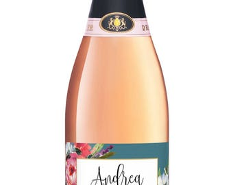 Hostess Gift Champagne Labels - Bridal Shower Hostess Gift - Baby Thank You Gift - Host Gift - Boho Bridal Brunch Custom Bridesmaid Gift