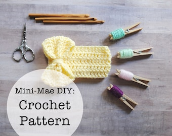 Baby Crochet Pattern, Crochet for Baby Pattern, Crochet Bow Pattern, Headband Pattern, Crochet Bow Headwrap Pattern, Bow Headwrap Pattern