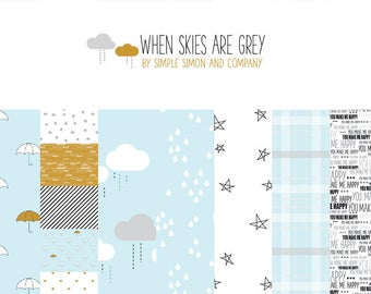 When Skies are Grey - 7 Fabric Bundle