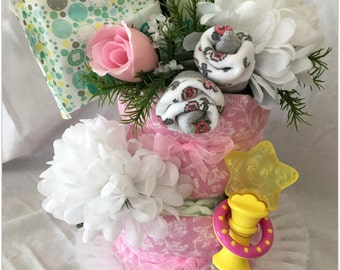It's a Girl Disposable Diaper Layer Baby Shower Baby Girl Cake Decoration Gift