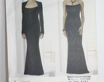 Vogue Pattern No. 2237 Designer Badgley Mischka Misses Bolero and Dress Size 14-16-18 Evening Wear