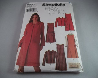 Simplicity 5902 M/MP Dress or Jumper and Jacket with Skirt Variations 4 to 10