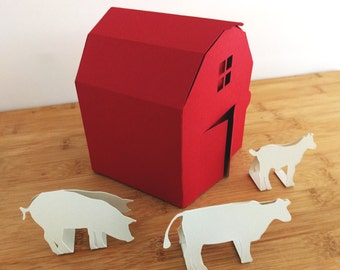 Red Barn Paper Craft Kit with Animals