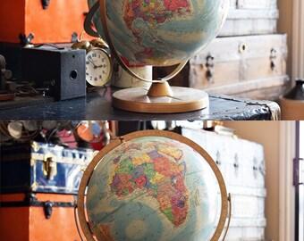 "Replogle World Nation Series Globe - English Language - Vintage Office/Library Deco - 12"""