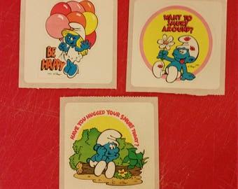 Smurfs, smurfs stickers, vintage smurfs
