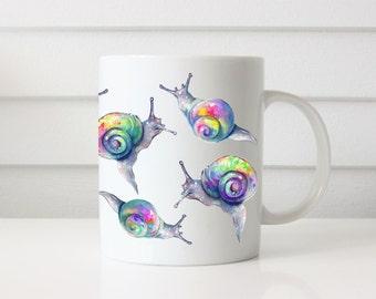 Gifts for Gardeners, Gardener Gift, Snail Mug, Coffee Mugs, Coffee Cup, Garden Decor, Garden, Gardener, Garden Flag, Garden Sign, Garden Mug