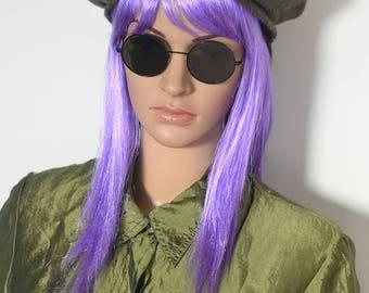 SALE // KHAKI BERET -90s, parisian, chic, army, green, hat, beanie, cyber, club kid, clueless, schoolgirl, aesthetic, tam, casual, french-