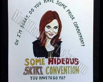 Emily in The Devil Wears Prada Movie Quote Art Print