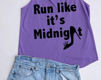 Run like it's midnight : Disney tank tops /Disney t-shirt /Disney shirts for women/ Disney family shirts/Disney shirts for kids /Kid t-shirt