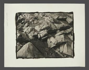 1980s Sepia Photograph Vintage Rocks Photo 11 x 14 Professional Photography Wall Art