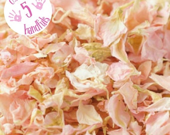 Half a Litre approx 5 guests Natural Wedding Confetti Eco-Friendly Biodegradable Dried Delphinium Petals Candy, Light Pink, Pale Pink