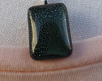 Dichroic glass pendant, green pendant, small glass pendant, beautiful pendant, glass pendant, dichroic necklace,