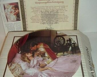 1986 Konigszelt Bayern Grimms Fairy Tales Sleeping Beauty Plate w COA and Box