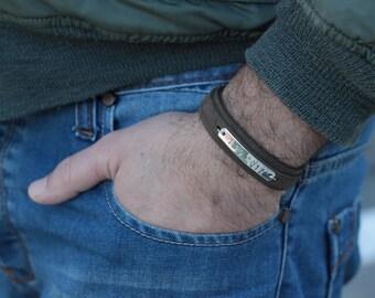Personalized Mens Bracelet-Mens personalized-Engraved Bracelet For Men-Mens minimalist Bracelet-Men Bracelet-Mens gift-Personalized gift