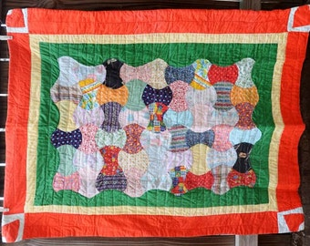 Cute Baby Quilt with hearts
