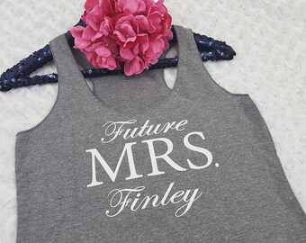 future MRS tank top, future MRS shirt, bridal shirt, bride to be shirt, bride tank top, bachelorette party, bachelorette shirt, engaged gift