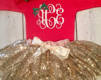 Baby Girl First Christmas Outfit, Girls Christmas Dress, Christmas Outfit, Christmas Set, Personalized Christmas Outfit, Baby Christmas Set