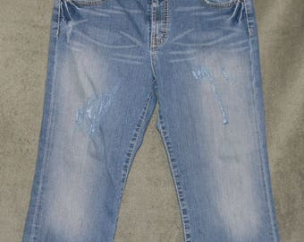 BKE Wendi, Capri Jeans, Cropped Jeans, Womens Size 29, Cotton Spandex, Teens, Juniors, Up Cycled, Good Conditon