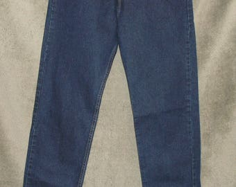 Vintage Levi's Silver Tab Relaxed Guy's Fit Jeans Women's Size 11 Jr Med (32x36) 1990's Silver Tab Juniors Teens Like New Made in USA