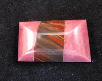 Rhodonite/Petrified wood Cabochon