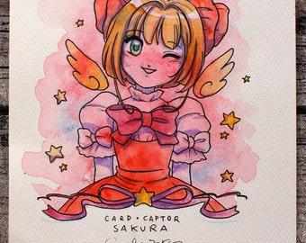 CARD CAPTOR SAKURA watercolor fanart