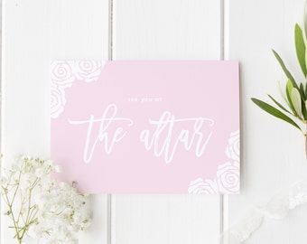 See You At The Altar, Groom Wedding Day Card, Pretty Rose Wedding Card, Bride Wedding Card, Card For Groom Wedding Day, Card For Bride