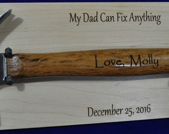 Great Gifts For Dad ~ Step Dad Gift ~ To Dad From Kids ~ Engraved Hammer Gift ~ Great Gifts For Men ~ Birthday Gift For Dad ~ Father's Day