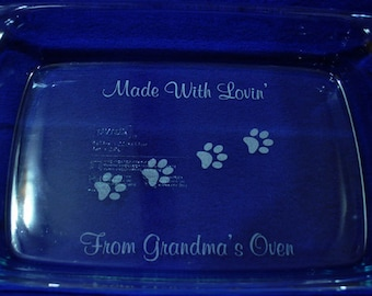 Gift For Pet Lover ~ Gift For Cook ~ Engraved Baking Pan ~ Engraved Gift ~ Birthday Gift Mom ~ Pet Lover Gift ~ Dog Gifts ~ Cat Lover Gifts