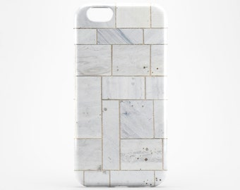 Brick iPhone Case iPhone 7 Marble iPhone 6 White Tile iPhone 7 Plus Case iPhone SE Case iPhone 6 Plus Case iPhone 4-5 Tile Galaxy Case iPod