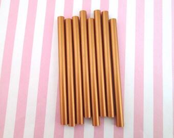 10 Piece Copper Metallic Hot Glue Sticks for Kawaii and Decoden, Wax Seals, Etc.