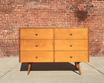 Paul McCobb Planner Group Six Drawer Dresser mid century modernist