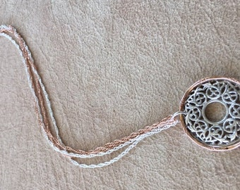 Filigree disk necklace