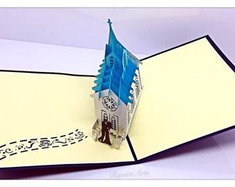 3D Pop Up Wedding Chapel Card