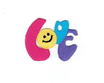 Smiley Face - Colorful Love - Iron on Applique - Embroidered Patch - 697090-SA