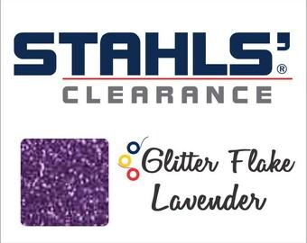 "7"" Stahls' Glitter Flake - Craft Roll - Iron-On Heat Transfer Vinyl - HTV - Lavender"
