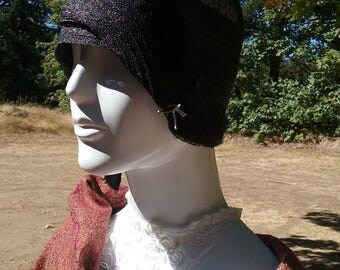 Reserved for Customer 1920s Gorgeous Black Cloche