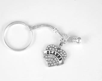 Glamma Jewelry Glamorous Keychain Grandmother Grama Granny Mom Mother Grammy Grams Nana Mimi Keychain