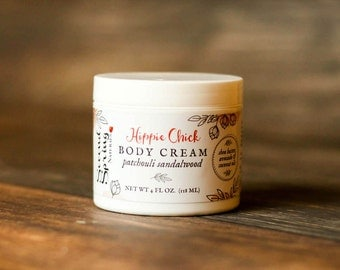 Patchouli Body Cream - Patchouli lotion - moisturizer - dry skin care - Earthy Scent Lotion