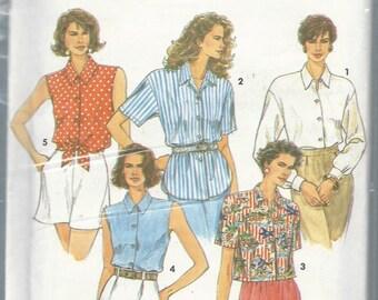 Simplicity 8302 Misses Shirt Size 10-16