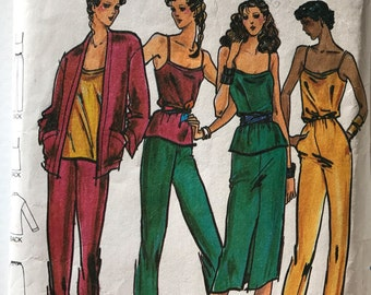 Butterick 6847 - Misses Separates with Jacket, Top, Jumpsuit, Pants and Skirt - Size 10