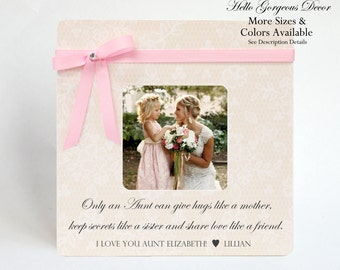 Special Wedding Gift Ideas For Niece : Gift Picture Frame Gift to Aunt Auntie Personalized Gift from Niece ...