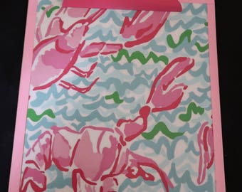 NEW Lobstah Roll Lilly monogrammed clipboard!