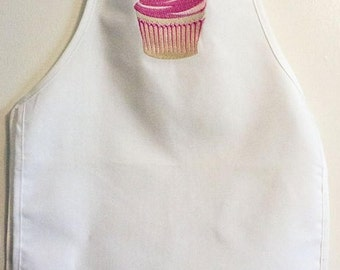 Apron-Cupcake-Baking Apron-Kitchen-Cooking-Dress Up-Toddler Apron-Childrens Apron-Baking