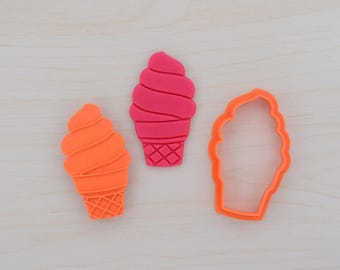 Ice Cream -  Cookie Cutter and Stamp Set