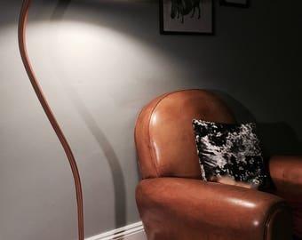 Caprani Light Mid-Century Modern Bentwood and Iron Base Floor Lamp, Denmark * FREE UK POSTAGE