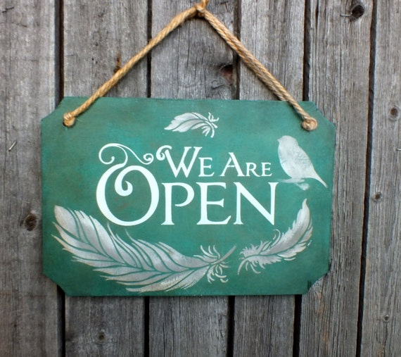 Open Closed Sign Double Sided Sign Small Business Sign