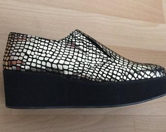 chaussures femme compensées SURFACE TO AIR dorées pointure 38 - fr 38 - uk 5 - us 6,5 - it 37
