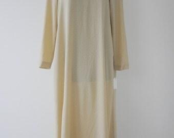 silk polka dot maxi dress/90s maxi dress/minimalistic silk dress