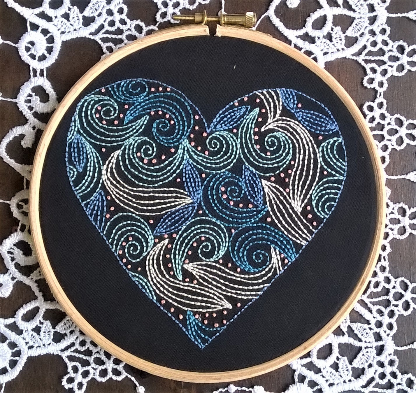 Traditional embroidery kit good vibrations