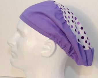 Purple European Style Scrub Cap - European Surgical Cap-Scrub Hat- Bouffant Surgical Scrub Hat - Surgical Cap - Nurses Scrub Cap-